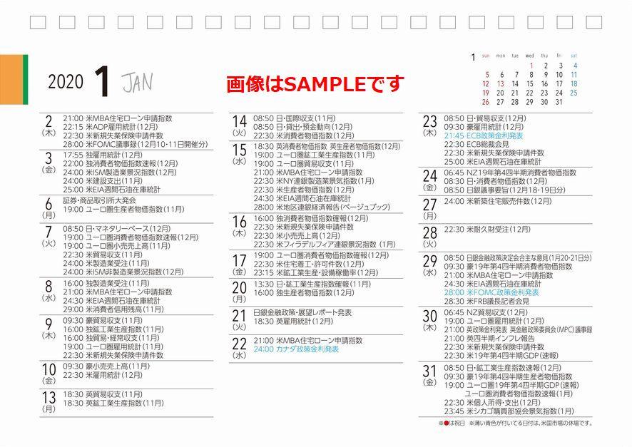 Forex calendar 2020